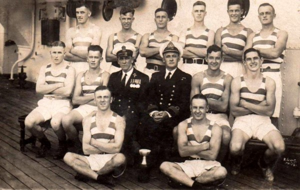 Sydney Carder (back row 2nd left) Pre HMS Ardent