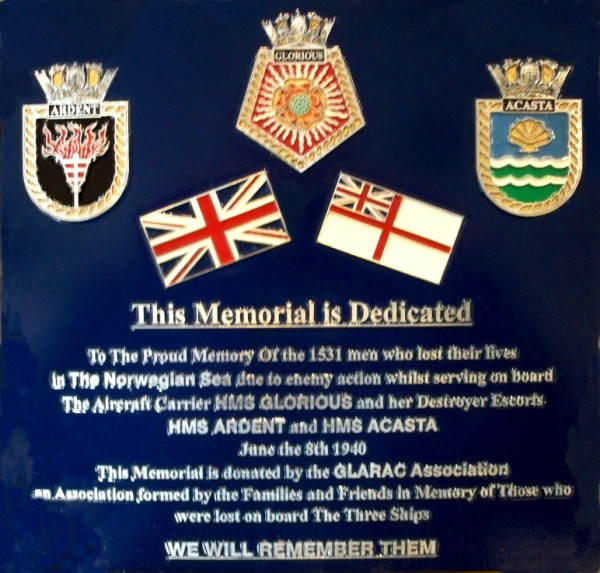 GLARAC plaque which is now permanently displayed at the D-Day Museum Southsea