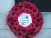 GLARAC wreath at Portsmouth Naval Memorial