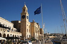 The Malta Maritime Museum as viewed from the Birgu waterfront
