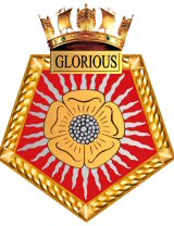 HMS Glorious Ships Crest